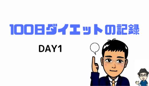 100日ダイエット:1日目の記録